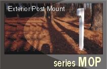 Series MOP - Moonlite Exterior Post Mount